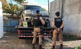 BPFron recupera caminhonete roubada na madrugada em Marechal Cândido Rondon