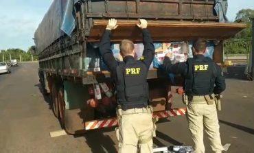 Operação Flagellum: PRF apreende caminhão com cigarros paraguaios em Guaíra, avaliados em cerca de R$ 1,1 milhão