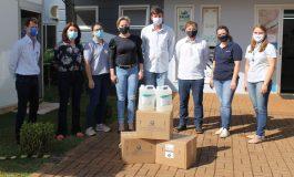 Saúde de Mercedes recebe doação de álcool em gel da Cooperativa Integrada