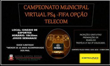 Inscrições do Campeonato Municipal Virtual PS4 – FIFA Opção Telecom podem ser feitas até dia 18 de junho