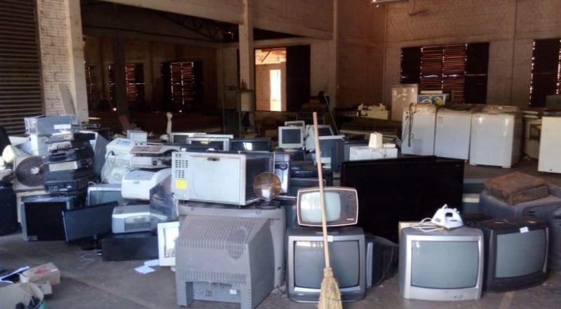 Cerca de seis toneladas de lixo eletrônico são coletados em Nova Santa Rosa