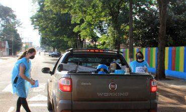 Pedágio informativo sobre Covid-19 é realizado nas entradas da cidade de Nova Santa Rosa