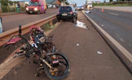 Motociclista morre após colisão com veículo em Marechal Rondon