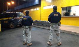 PRF apreende cerca de R$ 2 milhões em drogas em Guaíra