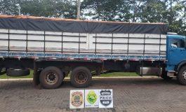 Operação Hórus apreende caminhão com cerca  de 300 caixas de cigarros em Entre Rios do Oeste