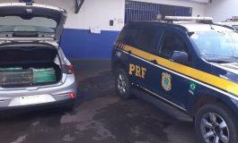 PRF de Quatro Pontes prende motorista de aplicativo, que diz ser investidor da bolsa, com 127 quilos de maconha