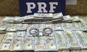 PRF apreende 268 mil dólares em Santa Terezinha de Itaipu