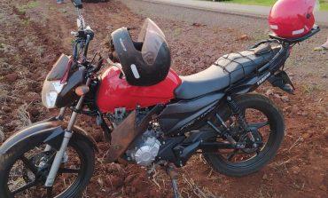 Motociclista sofre queda na PR-491 quando se deslocava de Nova Santa Rosa a Marechal Rondon
