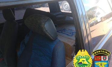 BPFron apreende cigarros em veículo durante Operação Hórus em Marechal Rondon