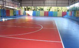 Quadra poliesportiva da Escola Willy Barth, de Planalto do Oeste, passa por reformas