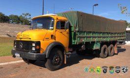PF, BPFron e Bope apreendem caminhão carregado com cigarros paraguaios avaliados em R$ 1,2 milhão