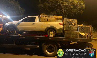 Operação Metrópolis: BPFron apreende veículos, cigarros e veneno, avaliados em R$ 750 mil em Terra Roxa