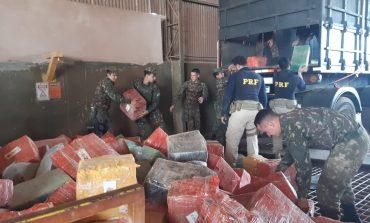 PRF apreende 6,1 toneladas de maconha e mais de 6,5 quilos de skunk em Guaíra