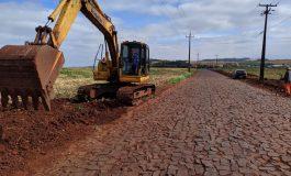 Obras para o asfaltamento do trecho final entre o Clube Lira e Novo Horizonte são iniciadas