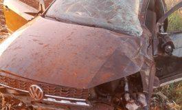 Homem fica gravemente ferido ao ser ejetado de veículo após capotamento em Tupãssi