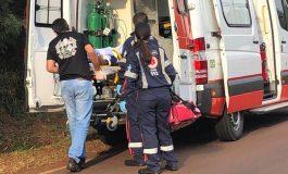 Acidente com motos deixa duas pessoas feridas no distrito de Iguiporã, em Marechal Cândido Rondon