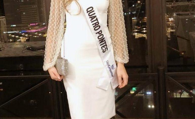1ª Princesa de Quatro Pontes fica no top 12 do Miss Paraná 2020