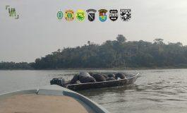 BPFron/Cobra/COE/Bope/PMPR apreendem, em Guaíra, embarcação carregada com pneus contrabandeados
