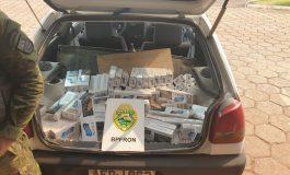BPFron apreende veículo com cigarros contrabandeados em Toledo