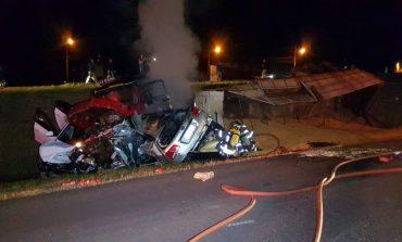 Vídeo: Câmera registra acidente e explosão com duas mortes na BR 277; vítimas foram identificadas