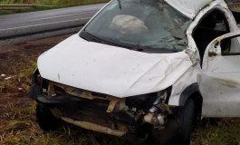 Motorista fica ferido em capotamento na saída de Toledo para Marechal Rondon