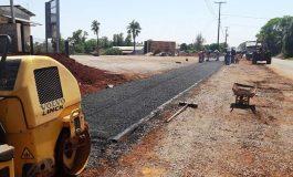 Iniciada a pavimentação da ciclovia em Nova Santa Rosa, no final Avenida Santo Cristo, sentido Maripá
