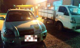 BPFron aprende veículos com alerta de roubo e placas paraguaias em Entre Rios do Oeste