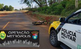 Polícia Rodoviária Estadual recupera motocicleta furtada, na PR-589, entre Nova Santa Rosa e Novo Sarandi