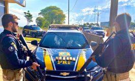 Apreensões da PRF, neste fim de semana, causam um prejuízo de mais de R$ 5 milhões ao crime organizado no Paraná