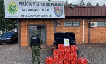 BPFron apreende 258 quilos de maconha em Entre Rios do Oeste e prende traficante