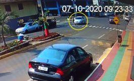 Vídeo mostra mulher sendo atropelada sobre a faixa de pedestre; ela teve ferimentos generalizados