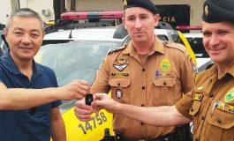 Polícia Militar de Nova Santa Rosa recebe nova viatura para atuação no combate ao crime
