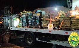BPFron apreende mais de quatro toneladas de maconha em Santa Helena