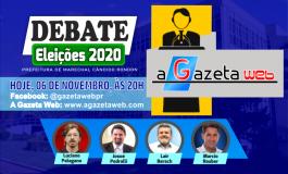 A Gazeta Web transmite hoje (6), ao vivo, debate entre os candidatos a prefeito de Marechal Rondon
