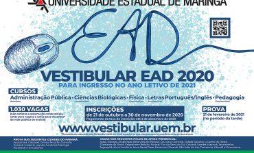 EAD: Inscrições para vestibular da UEM seguem até segunda-feira (30) em Nova Santa Rosa