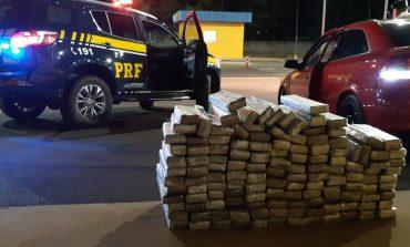 PRF apreende 90 quilos de maconha em Mercedes e prende jovens em flagrante