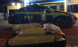 PRF de Quatro Pontes apreende 17 quilos de maconha em táxi