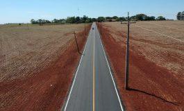 Estrada que liga a PR-467, passando pelo Clube Lira, até a sede de Novo Horizonte está toda asfaltada