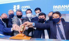 Leilão da Copel Telecom arrecada R$ 2,39 bilhões para o Estado