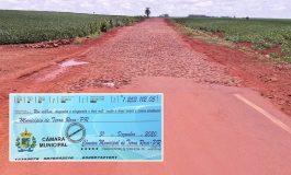 Câmara de Terra Roxa devolve R$ 1,25 milhão e sugere à Prefeitura que faça o asfalto de Santa Rita a Alto Santa Fé