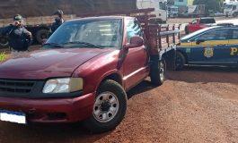 PRF recupera dois veículos roubados, sendo um em Marechal Rondon, e apreende carga de cigarros