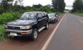 PRF recupera em Guaíra duas caminhonetes roubadas em Assis Chateaubriand