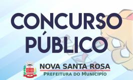 Nova Santa Rosa divulga o ensalamento da Prova de Títulos e Desempenho Didático do Concurso Público