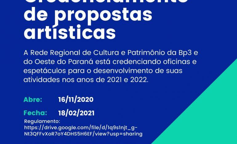 Continua aberto credenciamento de artistas Oeste do Paraná para incentivo à cultura regional