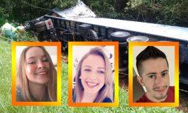 Divulgados os nomes das três jovens vítimas de Toledo que morreram hoje (13) na BR-277
