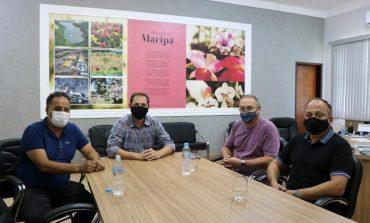 Prefeito de Maripá, Rodrigo Schanoski, recebe a visita do ex-deputado Luiz Fernandes Litro