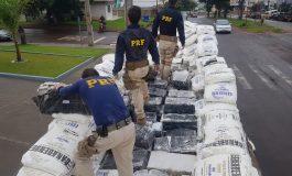PRF faz a primeira grande apreensão de maconha do ano no Paraná; 1,5 tonelada no município de Toledo