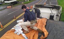 PRF realiza duas grandes apreensões de cigarros e recupera veículos roubados no oeste do PR; vídeo