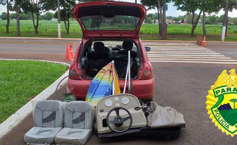 PRE de Santa Helena prende homem e recupera motor e acessórios para barco furtados em Cascavel
