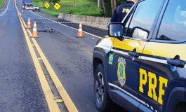 Homem morre atropelado por caminhão na BR-373, por volta das 4h da madrugada de hoje (10)